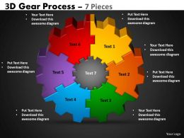 32 3D Gear Process 7 Pieces