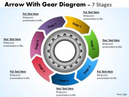33 Circular Flow Chart With Gears Planning Process 7 Stages