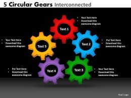 33 circular gears interconnected