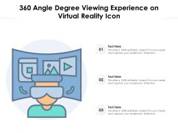360 Angle Degree Viewing Experience On Virtual Reality Icon