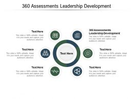 360 Assessments Leadership Development Ppt Powerpoint Presentation Styles Outfit Cpb