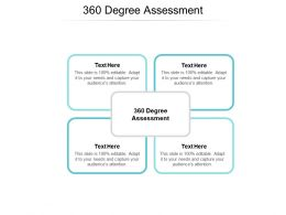 360 Degree Assessment Ppt Powerpoint Presentation Slides Infographics Cpb