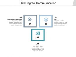 360 Degree Communication Ppt Powerpoint Presentation Ideas Tips Cpb