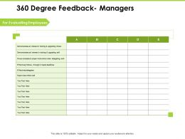 360 Degree Feedback Managers A1222 Ppt Powerpoint Presentation Show Visual Aids