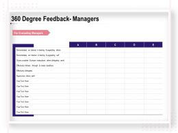 360 Degree Feedback Managers Ppt Powerpoint Presentation Designs