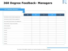 360 Degree Feedback Managers Ppt Powerpoint Presentation Slides Gridlines