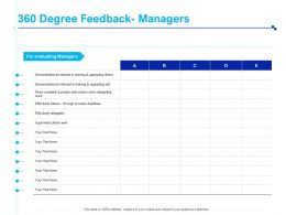 360 Degree Feedback Managers Supervises Ppt Powerpoint Presentation Slides Ideas