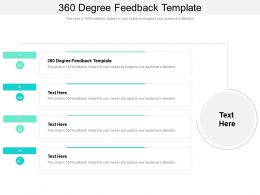 360 Degree Feedback Template Ppt Powerpoint Presentation Pictures Tips Cpb