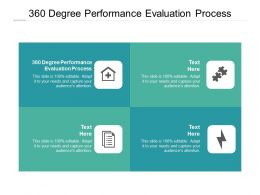 360 Degree Performance Evaluation Process Ppt Powerpoint Presentation Infographic Template Brochure Cpb