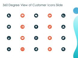 360 Degree View Of Customer Icons Slide Ppt Powerpoint Presentation Pictures Clipart Images