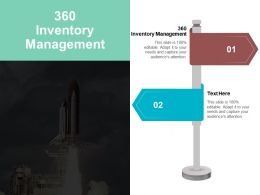360 Inventory Management Ppt Powerpoint Presentation Outline Infographics Cpb
