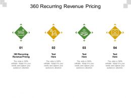 360 Recurring Revenue Pricing Ppt Powerpoint Presentation Example 2015 Cpb