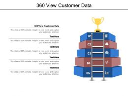 360 View Customer Data Ppt Powerpoint Presentation Slides Background Image Cpb