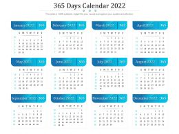365 Days Calendar 2022
