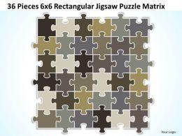 36 Pieces 6x6 Rectangular Jigsaw Puzzle Matrix Powerpoint templates 0812