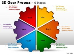 3 3D Gear Process 6 Stages Style 1