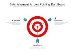 3 Achievement Arrows Pointing Dart Board