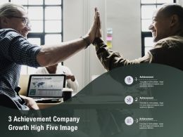 3 Achievement Company Growth High Five Image