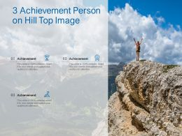 3 Achievement Person On Hill Top Image