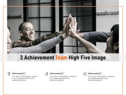 3 Achievement Team High Five Image