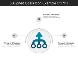 3 Aligned Goals Icon Example Of Ppt
