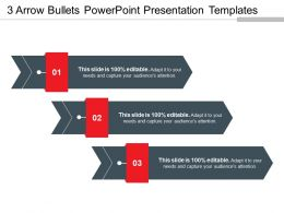 3 Arrow Bullets Powerpoint Presentation Templates
