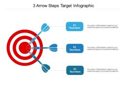 3 Arrow Steps Target Infographic