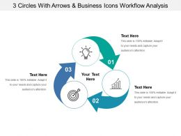 3 Arrows And Business Icons Workflow Analysis
