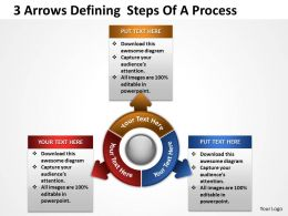 3 Arrows Defining  Steps Of A Process Powerpoint Templates ppt presentation slides 812
