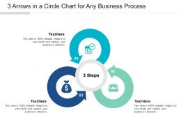 3 Arrows In A Circle Chart For Any Business Process