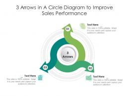 3 Arrows In A Circle Diagram To Improve Sales Performance Infographic Template