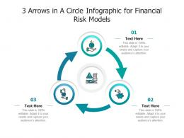 3 Arrows In A Circle For Financial Risk Models Infographic Template