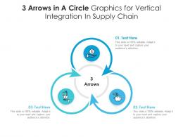 3 Arrows In A Circle Graphics For Vertical Integration In Supply Chain Infographic Template