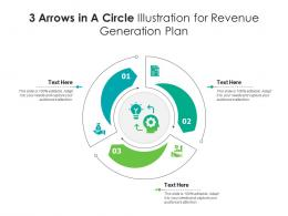 3 Arrows In A Circle Illustration For Revenue Generation Plan Infographic Template
