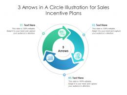 3 Arrows In A Circle Illustration For Sales Incentive Plans Infographic Template