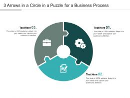 3 Arrows In A Circle In A Puzzle For A Business Process