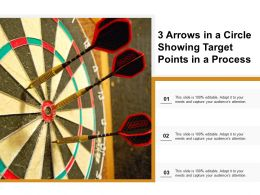 3 Arrows In A Circle Showing Target Points In A Process
