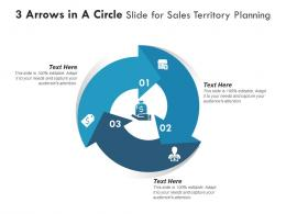 3 Arrows In A Circle Slide For Sales Territory Planning Infographic Template