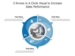 3 Arrows In A Circle Visual To Increase Sales Performance Infographic Template