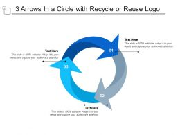 3 Arrows In A Circle With Recycle Or Reuse Logo