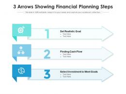 3 Arrows Showing Financial Planning Steps