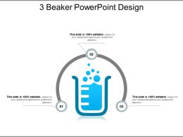 3 Beaker PowerPoint Design