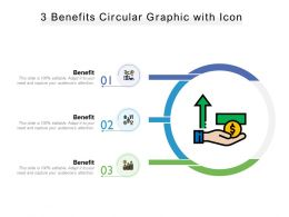 3 Benefits Circular Graphic With Icon