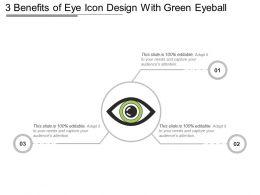 3 Benefits Of Eye Icon Design With Green Eyeball