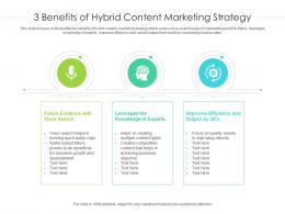 3 Benefits Of Hybrid Content Marketing Strategy