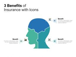 3 Benefits Of Insurance With Icons