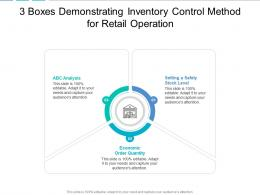 3 Boxes Demonstrating Inventory Control Method For Retail Operation