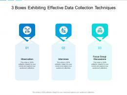 3 Boxes Exhibiting Effective Data Collection Techniques