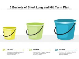 3 Buckets Of Short Long And Mid Term Plan