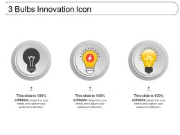 3 Bulbs Innovation Icon